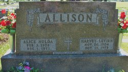 Alice Hulda <I>Wurster</I> Allison
