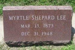 Myrtle Sophia <I>Shepard</I> Lee