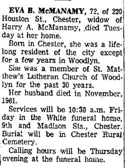 Eva Brush McManamy (1890-1962) - Find A Grave Memorial