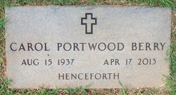 Minnie Carol <I>Portwood</I> Berry
