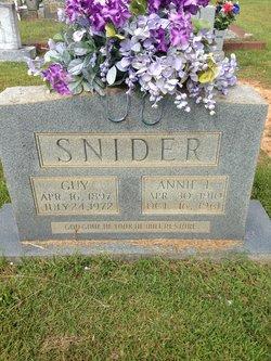 Annie Laura <I>Jordan</I> Snider