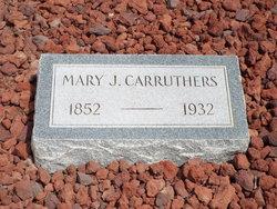 Mary Jane <I>Hicks</I> Carruthers