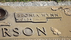 Benonia <I>Wynn</I> Anderson