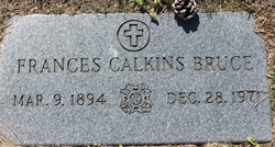 Frances Mary <I>Calkins</I> Bruce