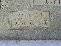 """Ola Tennessee """"Ollie"""" <I>Mathis</I> Church"""