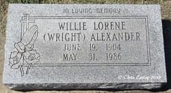 Willie Lorene <I>Wright</I> Alexander