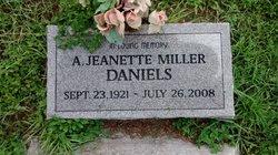 A. Jeanette <I>Miller</I> Daniels