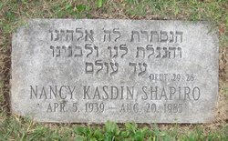 Nancy Wynn <I>Kasdin</I> Shapiro