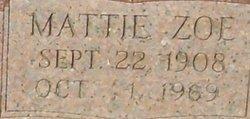 Mattie Zoe <I>Woodall</I> Bagwell