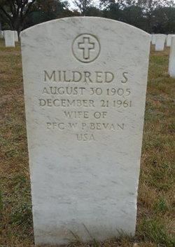 Mildred S Bevan