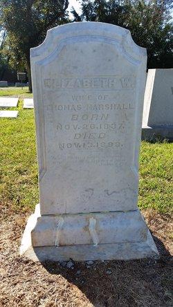 "Elizabeth B. ""Bettie"" <I>Williams</I> Marshall"