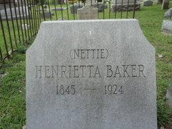 """Henrietta """"Nettie"""" Baker"""