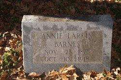 Annie <I>Larkin</I> Barnes