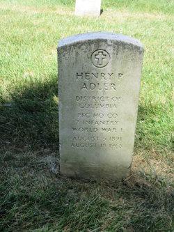 Henry P Adler