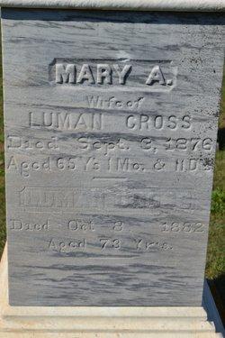 Mary Ann <I>Raymond</I> Cross