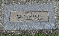 Betty A. <I>Bentz</I> Acheson