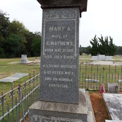 Mary Ann Henrietta <I>Burch</I> Mathews