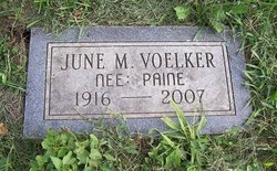 June M <I>Paine</I> Voelker