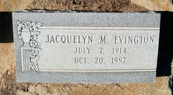 Jacquelyn M <I>Burden</I> Evington