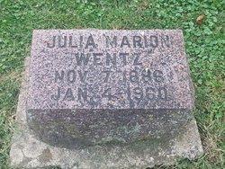 Julia Marion <I>Shrader</I> Wentz