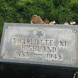 Charlotte M <I>Burns</I> Highland