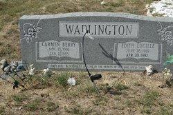 "Edith Lucille ""Lucille"" <I>Bankston</I> Wadlington"