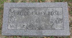 Alice <I>Carey</I> Rose