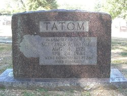 SGT Clyde W Tatom Jr.