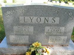 "Lucinda Ellen ""Lula"" <I>McDonough</I> Lyons"