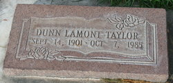 """Dunn Lamont """"Snyde"""" Taylor"""