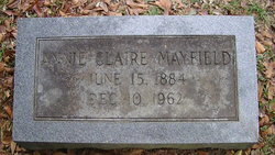"""Annie Claire """"Claire"""" <I>Pearson</I> Mayfield"""