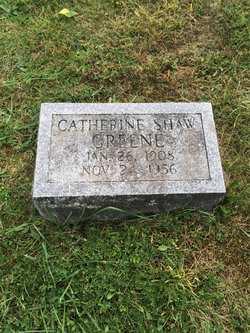 """Catherine Warren """"Kate"""" <I>Shaw</I> Greene"""