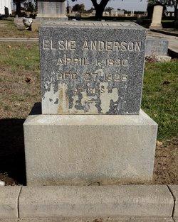 Elsie <I>Stabel</I> Anderson