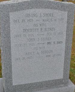 Dorothy E <I>Sliney</I> Shore