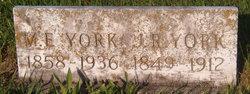Martha Ellen <I>Hobbs</I> York
