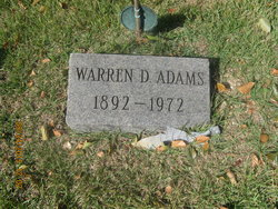 Warren D Adams