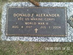 PFC Donald F Alexander