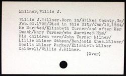 Willis Joshua Milner
