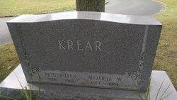 """Mazerna Elizabeth """"Mazie"""" <I>Williams</I> Krear"""