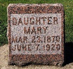 "Maria Agnes ""Mary"" <I>Olinger</I> Glaser"