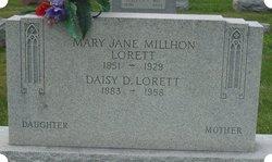 Mary Jane <I>Millhon</I> Lorett