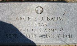 Archie J Baum