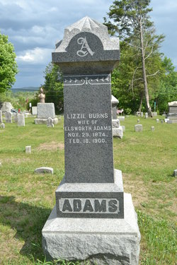 Lizzie <I>Burns</I> Adams
