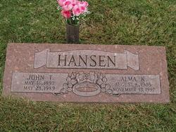 Alma K <I>Fox</I> Hansen