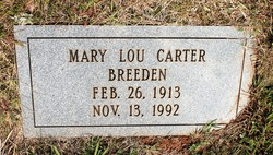 Mary Lou <I>Carter</I> Breeden