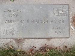 Albertha F. <I>Nielson</I> Hatch