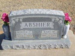 Myrtle Clara <I>Mashore</I> Abshier