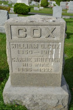 Carrie Adell <I>Whittier</I> Cox
