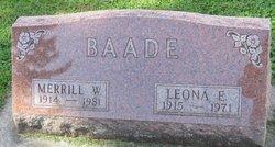 Merrill W Baade