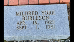 Mildred Loucille <I>York</I> Burleson